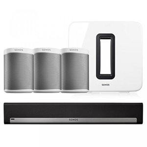 This Bundle Includes (5) products. (1) Sonos SUB W...