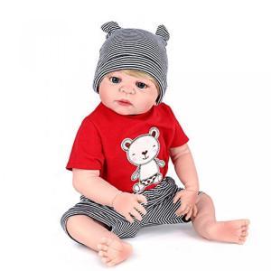 幼児用おもちゃ Reborn Boys Full Silicone Baby Dolls Looki...