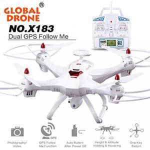 ドローン Drone with Camera,Aritone Global Drone X183 With 5GHz WiFi FPV 1080P Camera Follower (white)|sonicmarin