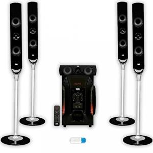 Acoustic Audio AAT1000 powered 5.1 tower multimedi...