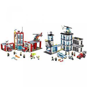 レゴ LEGO CITY Fire Station 60110 with LEGO City Pol...