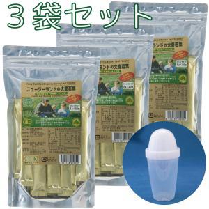 ソーキ 乳酸菌入りニュージーランドの大麦若葉 3g×30包×3袋セット(シェイカー付)|sooki-ec