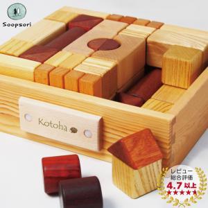 積み木 知育 つみきいっぱいセット66P 名前入り木箱 遊び方ガイド付き 名入れ 舐めても安心 天然...