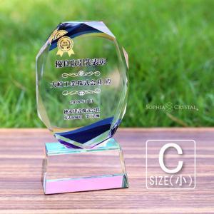 名入れ無料 記念品 トロフィー クリスタル クリスタルトロフィー 表彰状 記念品 表彰 退職記念 名入れ プレゼント トロフィ 周年記念 とろふぃー CR-16|sophia-crystal