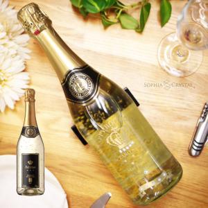 ホワイトデー ワイン フェリスタス S10 金箔入 お酒 名入れ 誕生日 結婚祝い 記念品 退職祝い 還暦祝い プレゼント スワロフスキー デコ ボトル シャンパン|sophia-crystal