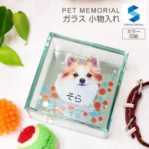 ペット位牌 KP-BOX 在庫限り ガラス 小物入れ ケース 写真 カラー 誕生石 スワロフスキー 仏具 49日 思い出 かわいい 犬 猫 うさぎ ペット用メモリアルグッズ|sophia-crystal