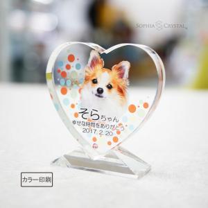 ペット位牌 愛しいペットちゃんのお姿を、クリスタルの表・裏両面にUVカラー加工したペット用位牌です。...