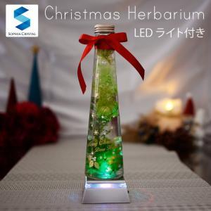 名入れ無料 xmas-hbrm-1 クリスマス ツリー LED ハーバリウム ボトルフラワー 花ギフ...
