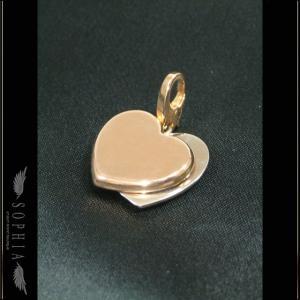 Cartier カルティエ 2ハート モチーフ チャーム K18PG/K18WG |sophianetshop