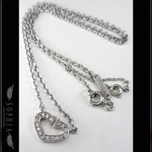 Cartier カルティエ Cハートダイヤモンドネックレス K18ホワイトゴールド K18WG ペンダント |sophianetshop
