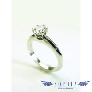 ティファニー プラチナダイヤモンドリング 5号|sophianetshop