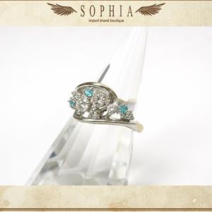 ダイヤモンド&パライバトルマリン リング K18WG|sophianetshop