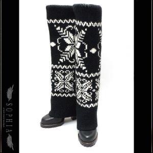 D&G ノルディック柄 ニットロングブーツ ブラック サイズ38(24から24.5cm) レディース[4]|sophianetshop