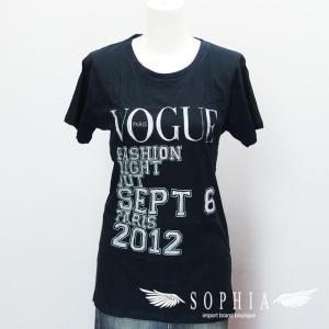 VOGUE Tシャツ ファッションナイトアウト 2012 黒[20180922]|sophianetshop