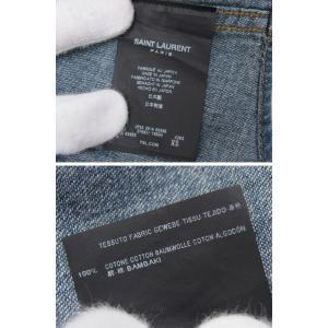 サンローランパリ デニム ウェスタンシャツ サイズXS メンズ[20181030]|sophianetshop|07