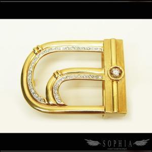 K18イエローゴールド ダイヤモンド付きバックル|sophianetshop