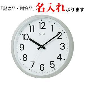 リズム時計 デイリー 4KGA06DN19 クオーツ掛時計 フラットフェイスDN 白|sophias