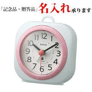 リズム時計 デイリー 4SE547DN13 クオーツめざまし時計 アクアパークミニDN ピンク|sophias
