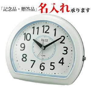 リズム時計 デイリー 4SE550DN04 クオーツめざまし時計 デイリーR550 白(青)|sophias