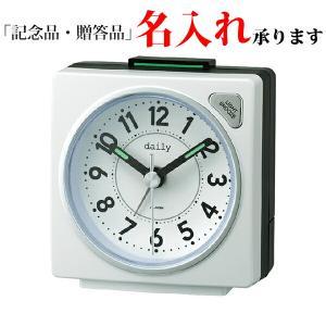 リズム時計 デイリー 8REA27DN03 クオーツめざまし時計 デイリーRA27 白|sophias