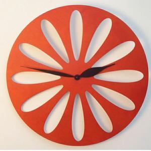 ピロンディーニ ART008-ORANGE Pirondini 木製掛け時計 Traffic 8 オレンジ|sophias