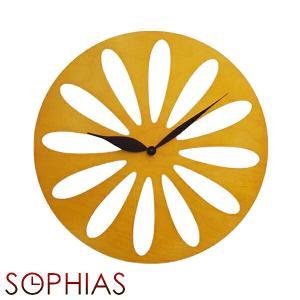 ピロンディーニ ART008-YELLOW Pirondini 木製掛け時計 Traffic 8 イエロー|sophias