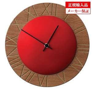 ピロンディーニ ART015-RED Pirondini 木製掛け時計 Ettore 15 レッド 送料区分(大)|sophias