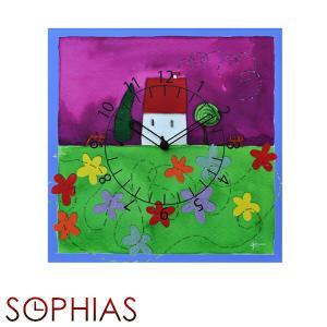 ピロンディーニ ART088 Pirondini 木製掛け時計 花屋敷 Flower House 88|sophias