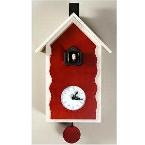 ピロンディーニ 101B Pirondini 木製鳩時計 Cucu Lac ホワイト×レッド|sophias