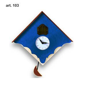 ピロンディーニ 103-BLUE Pirondini 木製鳩時計 Chalet 103 ブルー|sophias