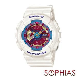 カシオ ベビーG BA-112-7AJF 腕時計 ホワイト (長期保証8年付)|sophias