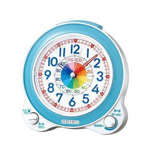 セイコークロック SEIKO クオーツ KR887L めざまし時計 知育時計 薄青パール 記念品 名入れ承ります sophias