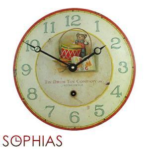 ロジャーラッセル EN/DRUM ROGER LASCELLES 掛け時計 レトロ&デコクロック|sophias