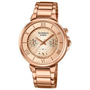 カシオ シーン SHE-3040GJ-9AJF クオーツ レディース腕時計 (長期保証5年付)|sophias