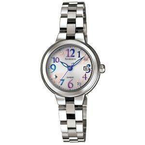カシオ シーン SHE-4506SBD-7A2JF ソーラー フレッシュカラー シルバー レディース腕時計 (長期保証5年付)|sophias