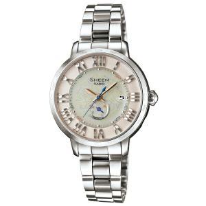 カシオ シーン SHW-1600D-7AJF 電波ソーラー フレッシュカラー シルバー レディース腕時計 (長期保証5年付)|sophias