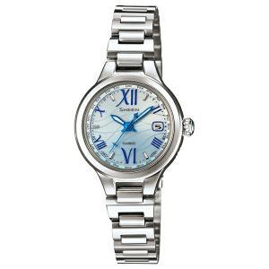 カシオ シーン SHW-1700D-2AJF 電波ソーラー ブルー レディース腕時計 (長期保証5年付)|sophias