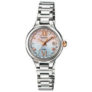 カシオ シーン SHW-1700D-7AJF 電波ソーラー ブルー×ピンク レディース腕時計 (長期保証5年付)|sophias