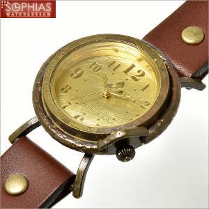 手作り腕時計 ヴィー vie WB-013M-BR クォーツ (電池式) ブラウンレザー (Mサイズ) メンズ腕時計 sophias