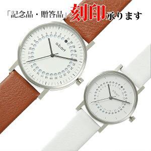 ペアウォッチ エービーアート O-101&OS-101 a.b.art ペア腕時計 茶×白 レザー (長期保証3年付)|sophias