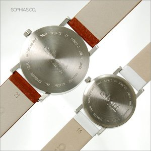 ペアウォッチ エービーアート O-101&OS-101 ペア腕時計 茶×白 レザー (長期保証3年付)|sophias|02