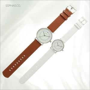 ペアウォッチ エービーアート O-101&OS-101 ペア腕時計 茶×白 レザー (長期保証3年付)|sophias|03