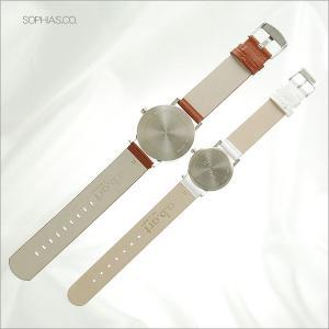 ペアウォッチ エービーアート O-101&OS-101 ペア腕時計 茶×白 レザー (長期保証3年付)|sophias|04