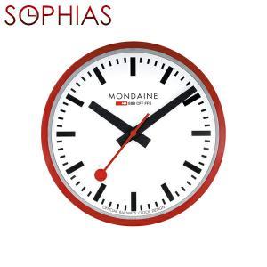 モンディーン MONDAINE A990.CLOCK.11SBC/MD188 Wall Clock ウォールクロック レッド 壁掛け時計 送料区分(中)|sophias