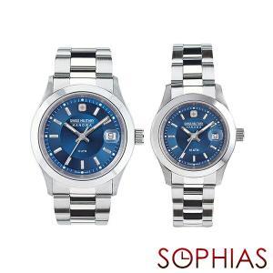 スイスミリタリー ペア腕時計 ML301&ML309 エレガント プレミアム ブルー ペアウォッチ (長期保証5年付)|sophias