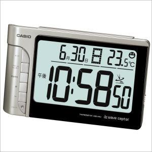 カシオ CASIO DQD-240J-8JF デジタル 電波置き時計 温度・湿度計・カレンダー付き ブラック/シルバー|sophias