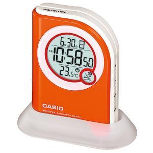 カシオ CASIO DQD-410J-4JF デジタル 電波置き時計 温度計・快適温度・カレンダー表示付き オレンジ|sophias