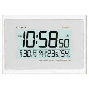 カシオ CASIO IDL-100J-7JF デジタル 電波置き・掛け兼用時計 生活環境お知らせ機能搭載 ホワイト|sophias