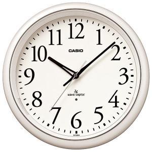 カシオ CASIO IQ-1050NJ-7JF アナログ 電波掛け時計 常時点灯ライト機能付き パールホワイト|sophias