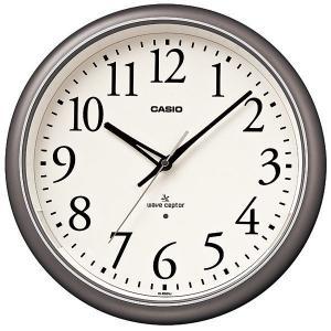 カシオ CASIO IQ-1050NJ-8JF アナログ 電波掛け時計 常時点灯ライト機能付き シルバー|sophias